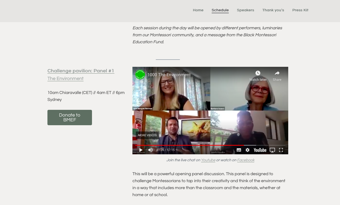 """Marvin Reyes from Vincerola as panelist at the Montessori live virtual Congress """"a 1-day global Montessori event in honor of Dr Montessori's  150th birthday"""""""